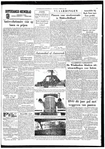 Rotterdamsch Nieuwsblad / Schiedamsche Courant / Rotterdams Dagblad / Waterweg / Algemeen Dagblad 1964-02-11