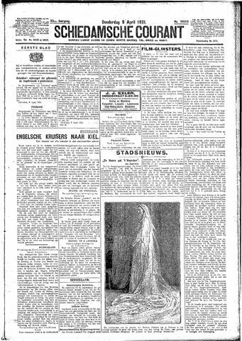 Schiedamsche Courant 1931-04-09