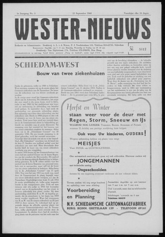 Wester Nieuws 1960-09-15
