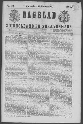 Dagblad van Zuid-Holland 1860-02-18