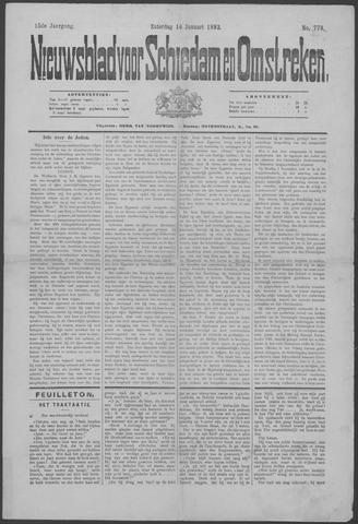 Nieuwsblad voor Schiedam en Omstreken 1892-01-16