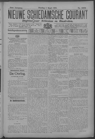 Nieuwe Schiedamsche Courant 1918-03-05
