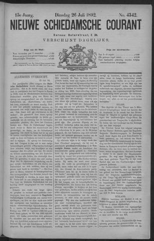 Nieuwe Schiedamsche Courant 1892-07-26