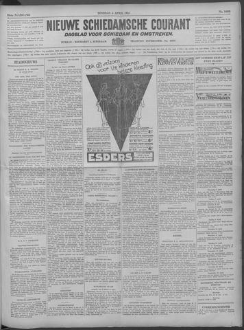 Nieuwe Schiedamsche Courant 1933-04-04