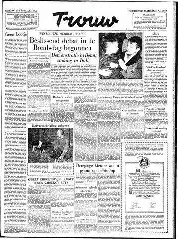 Trouw / De Rotterdammer 1955-02-25