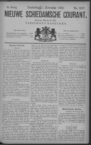 Nieuwe Schiedamsche Courant 1886-11-11