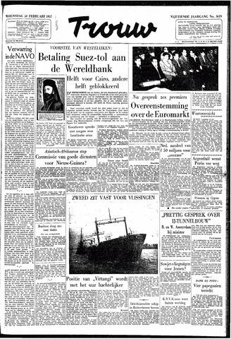 Trouw / De Rotterdammer 1957-02-20
