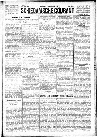Schiedamsche Courant 1927-11-01
