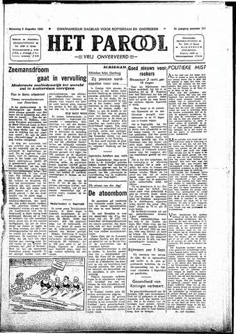 Rotterdamsch Parool / De Schiedammer 1945-08-08
