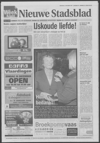 Het Nieuwe Stadsblad 2007-12-12