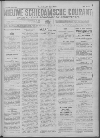 Nieuwe Schiedamsche Courant 1929-06-27