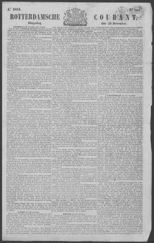 Rotterdamse Courant 1851-12-23