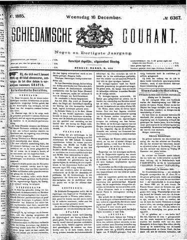 Schiedamsche Courant 1885-12-16