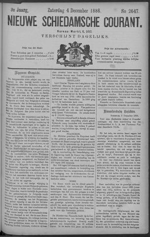 Nieuwe Schiedamsche Courant 1886-12-04