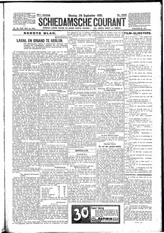 Schiedamsche Courant 1931-09-29