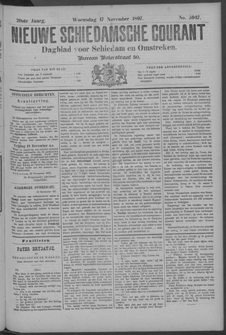 Nieuwe Schiedamsche Courant 1897-11-17
