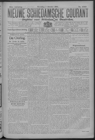 Nieuwe Schiedamsche Courant 1918-10-07