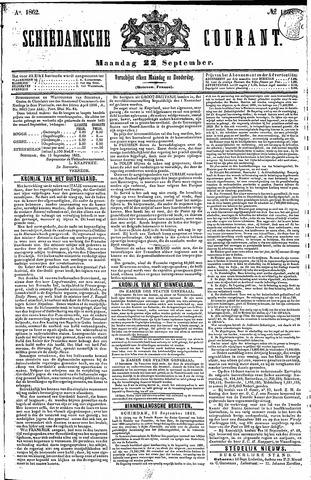 Schiedamsche Courant 1862-09-22