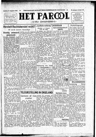 Rotterdamsch Parool / De Schiedammer 1945-08-25