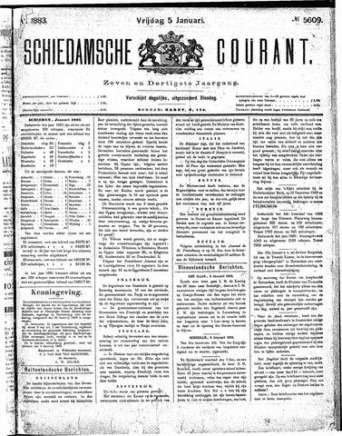 Schiedamsche Courant 1883-01-05