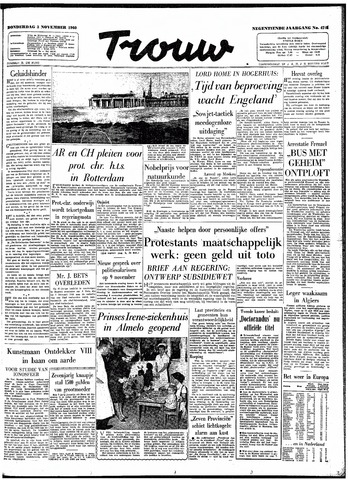 Trouw / De Rotterdammer 1960-11-03