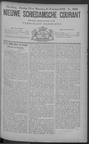 Nieuwe Schiedamsche Courant 1892-02-15