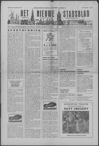 Het Nieuwe Stadsblad 1958-12-03
