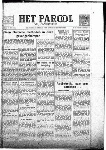 Rotterdamsch Parool / De Schiedammer 1945-06-15