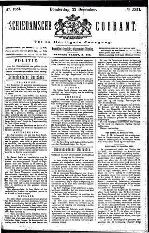 Schiedamsche Courant 1881-12-22
