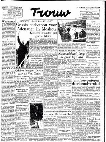 Trouw / De Rotterdammer 1955-09-09