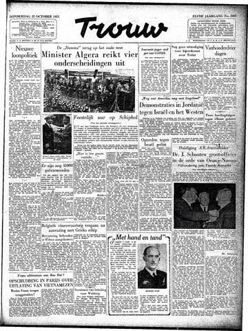 Trouw / De Rotterdammer 1953-10-22
