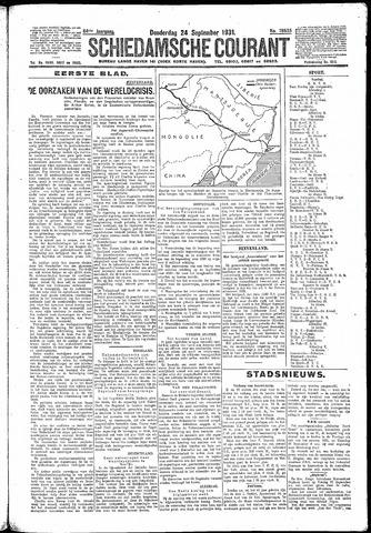 Schiedamsche Courant 1931-09-24