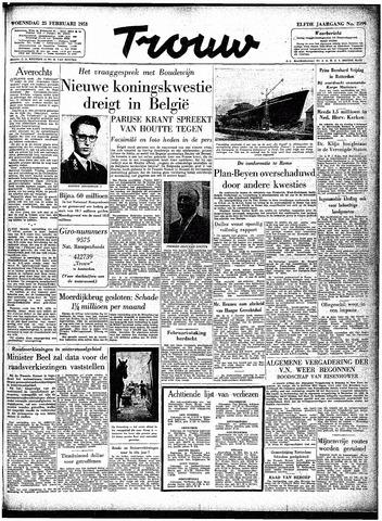 Trouw / De Rotterdammer 1953-02-25
