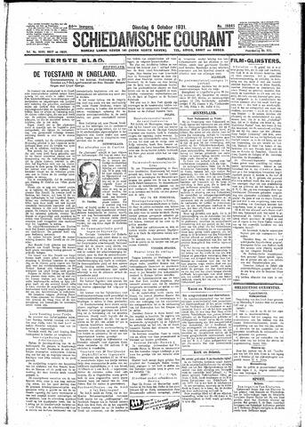 Schiedamsche Courant 1931-10-06