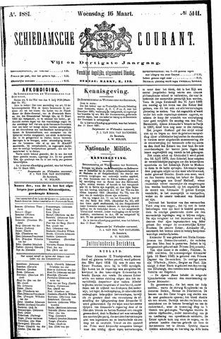 Schiedamsche Courant 1881-03-16