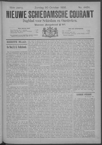 Nieuwe Schiedamsche Courant 1892-10-30