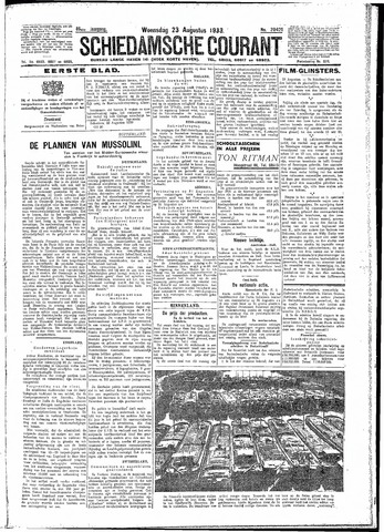 Schiedamsche Courant 1933-08-23