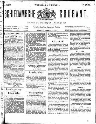 Schiedamsche Courant 1883-02-07
