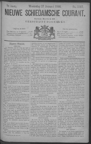 Nieuwe Schiedamsche Courant 1886-01-27