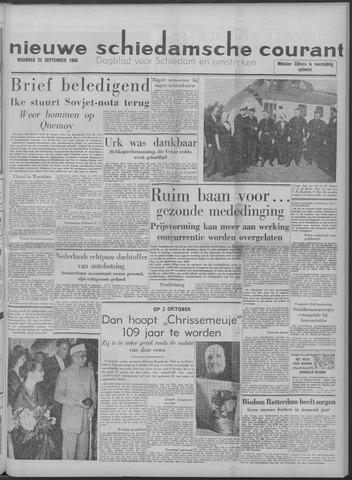 Nieuwe Schiedamsche Courant 1958-09-22