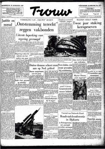 Trouw / De Rotterdammer 1957-08-22
