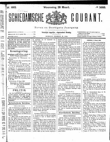 Schiedamsche Courant 1883-03-28