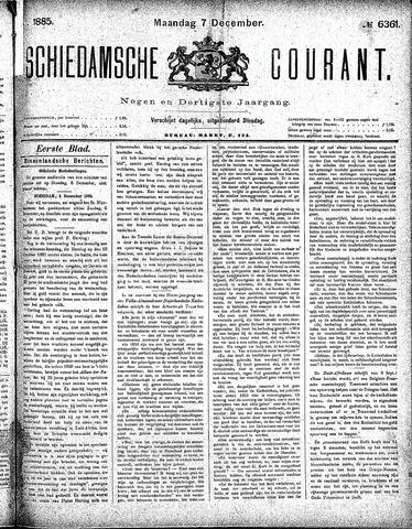 Schiedamsche Courant 1885-12-07