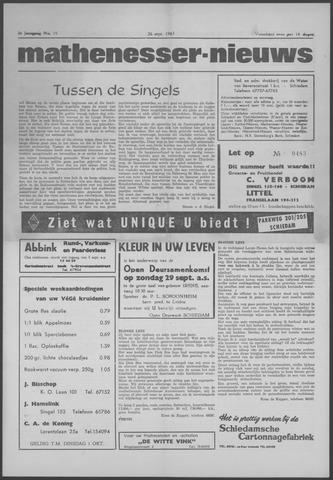 Mathenesser Nieuws 1963-09-26