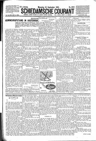 Schiedamsche Courant 1931-09-14
