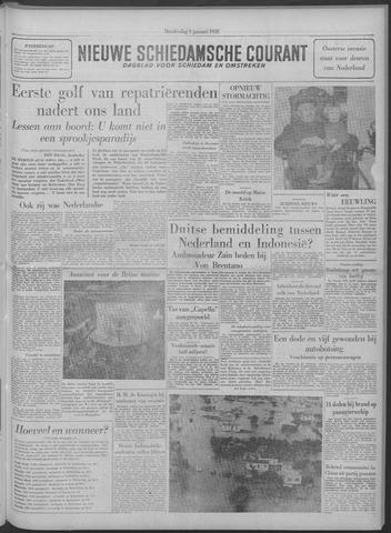 Nieuwe Schiedamsche Courant 1958-01-09