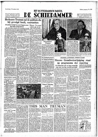 Rotterdamsch Parool / De Schiedammer 1948-11-04