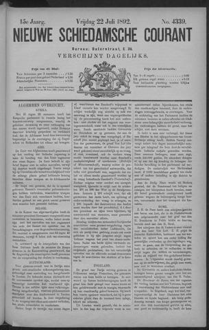 Nieuwe Schiedamsche Courant 1892-07-22