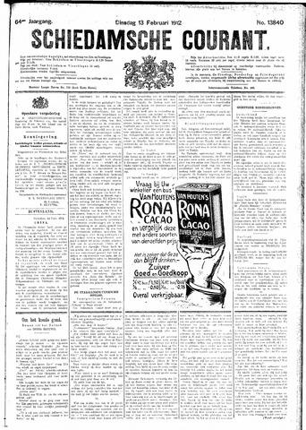 Schiedamsche Courant 1912-02-13