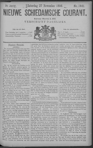 Nieuwe Schiedamsche Courant 1886-11-27